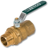 1051 - Zetco WaterMarked & AGA Approved DZR Brass Ball Valve M&F Lever Handle
