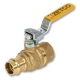 6208 - Zetco AGA Approved DZR Brass Ball Valve Press-fit x Female Lockable