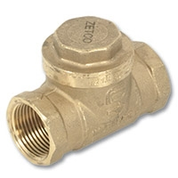 1802 - Zetco WaterMarked DZR Brass Swing Check Valve