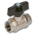 2402 - Total Heavy Pattern Brass Ball Valve F&F T Handle