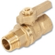 1012 - Zetco WaterMarked DZR Brass Ball Valve M&F DZR Brass Lever Handle & Nut