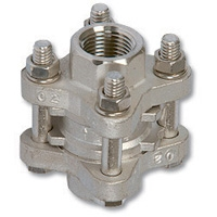 4020 - 3-Piece Stainless Steel Spring Check Valve