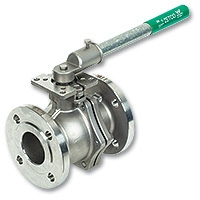 New WaterMarked 2-Piece Stainless Steel Flanged Ball Valve