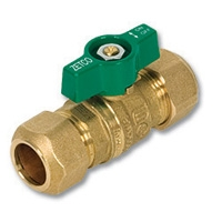 1340 - Zetco WaterMarked DZR Brass Ball Valve Olive Compression