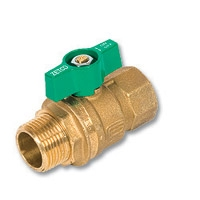 1053 - Zetco WaterMarked & AGA Approved DZR Brass Ball Valve M&F T Handle