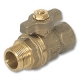 1017 - Zetco WaterMarked M&F Mains Tapping Ball Valve DZR Brass Handle