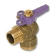 1246 - Zetco WaterMarked DZR Brass 90° Ball Valve M&F Lilac Lockable Handle