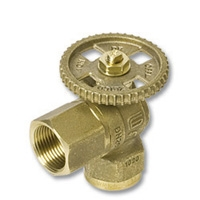 1248 - Zetco WaterMarked DZR Brass 90° Ball Valve F&F Lockable DZR Brass Hand Wheel