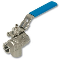 4067 - Zetco 3-Way T Port Bottom Entry Stainless Steel Ball Valve