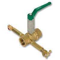 2125 - Zetco HVAC WaterMarked DZR Brass Ball Valve c/w Extended Spindle, Test Plug & Drain