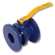 2603 - Zetco AGA Approved Ductile Iron Flanged Lockable Ball Valve