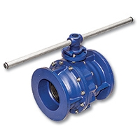 2601200 - Zetco AGA Approved Cast Iron Flanged Ball Valve 200mm