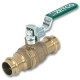 1002 - Isis® Heavy Pattern WaterMarked & AGA Approved DZR Brass Ball Valve F&F T Handle