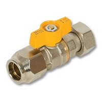 1362 - SAE Flare x Nut & Tail AGA Approved Brass Ball Valve