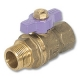 1018 - Zetco WaterMarked M&F Mains Tapping Ball Valve Lilac DZR Brass Handle