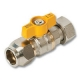 1330 - Flare x Nut & Tail AGA Approved Brass Ball Valve