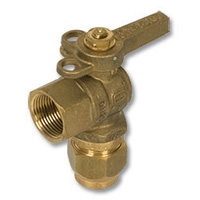 1243 - Zetco WaterMarked DZR Brass 90° Ball Valve FI x Flared Lockable Lever Handle
