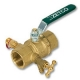 2123 - Zetco HVAC WaterMarked DZR Brass Ball Valve c/w Test Plug & Drain Cock