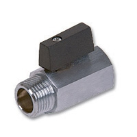 1402 - Mini AGA Approved Brass Ball Valve M&F