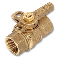 1015 - Zetco WaterMarked DZR Brass F&F Lockable DZR Brass Lever Handle & Nut
