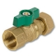 1071 - FI x Nut & Tail WaterMarked DZR Brass Ball Valve