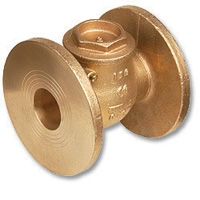 1808 - Bronze WaterMarked Swing Check Valve Flanged