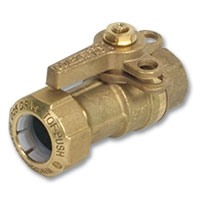 6615 - Zetco WaterMarked Ball Valve Female x TOF PE Lockable Lever Handle