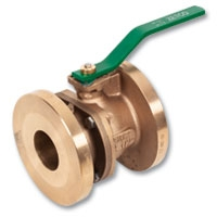 2607 - Zetco WaterMarked Bronze Flanged Lockable Ball Valve