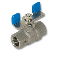4145 - Zetco 2-Piece Stainless Steel Self-Venting Ball Valve T Handle