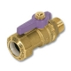 6404 - Zetco WaterMarked Ball Valve Male x TOF PUSH Lilac Lever Handle