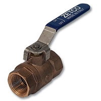 1060 - Zetco Bronze Ball Valve F&F Lever Handle