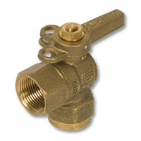 1254 - Zetco WaterMarked DZR Brass 90° Ball Valve F&F S/Steel Ball DZR Lockable Handle
