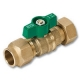 1342 - Conetite Compression x Nut & Tail WaterMarked DZR Brass Ball Valve