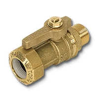 6402 - Zetco WaterMarked Ball Valve Male x TOF PUSH DZR Brass Lever Handle