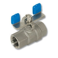4115 - Zetco 2-Piece Stainless Steel Ball Valve T Handle