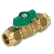 1031 - Zetco WaterMarked & AGA Approved DZR Brass Ball Valve Flare x Flare