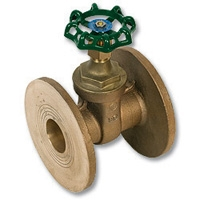 1710 - Zetco Bronze WaterMarked Gate Valve Flanged