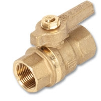 1011 - Zetco WaterMarked DZR Brass Ball Valve F&F DZR Brass Lever Handle & Nut