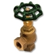 1724 - Zetco Bronze WaterMarked 90º Angle Needle Valve