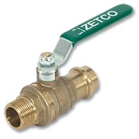 6102 - Zetco WaterMarked DZR Brass Press-fit x MI Lever Handle