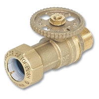 6406 - Zetco WaterMarked Ball Valve Male x TOF PE DZR Brass Hand Wheel