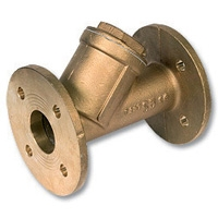 1525 - Bronze WaterMarked Flanged Y Strainer