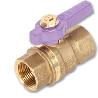 1013 - Zetco WaterMarked DZR Brass Ball Valve F&F DZR Brass Lilac Lever Handle & Nut