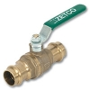 1050 - Zetco WaterMarked & AGA Approved DZR Brass Ball Valve F&F Lever Handle