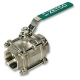 4419 - Zetco WaterMarked 3-Piece Stainless Steel Ball Valve