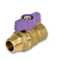 1093 - Zetco WaterMarked DZR Brass Ball Valve M&F Lilac T Handle