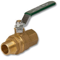 1003 - Isis® Heavy Pattern WaterMarked & AGA Approved DZR Brass Ball Valve M&F Lever Handle