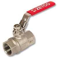 4046 - Zetco 2-Piece Stainless Steel Self-Venting Lockable Ball Valve NPT Threads