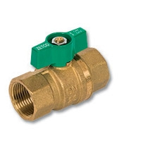 1052 - Zetco WaterMarked & AGA Approved DZR Brass Ball Valve F&F T Handle